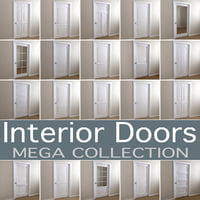 3D common interior doors