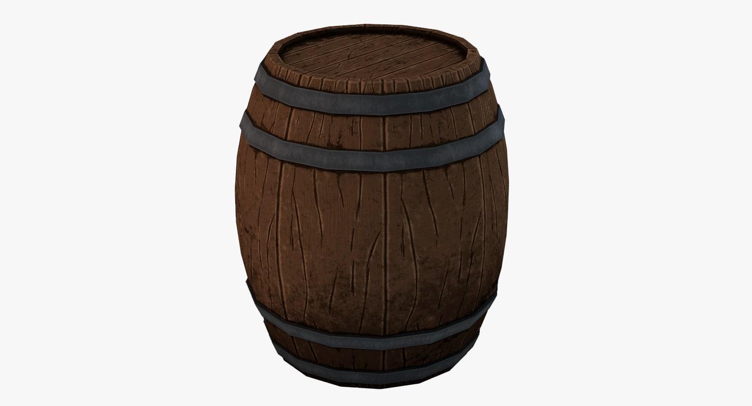 barrel highpoly 3D model