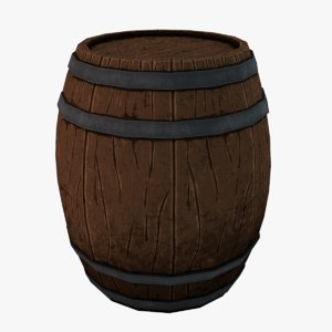 barrel highpoly 3D model