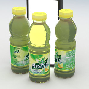 3D beverage bottle nestea green tea