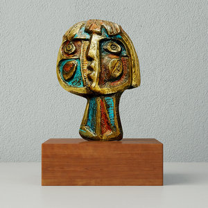 modernist bronze abstract sculpture 3D