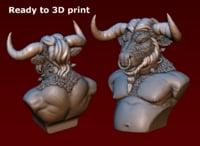 minotaur bust 3D model