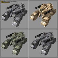 scifi light tank mk1 3D model
