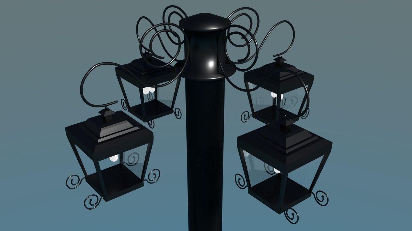 simple street lamp model