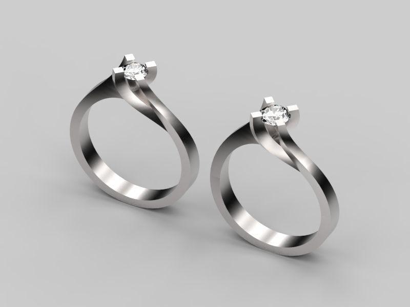 engagement ring model