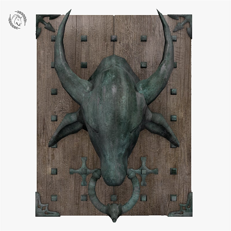 3D knocker bull door model