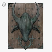 3D knocker bull door model