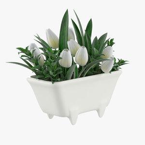 tulip bath mini model