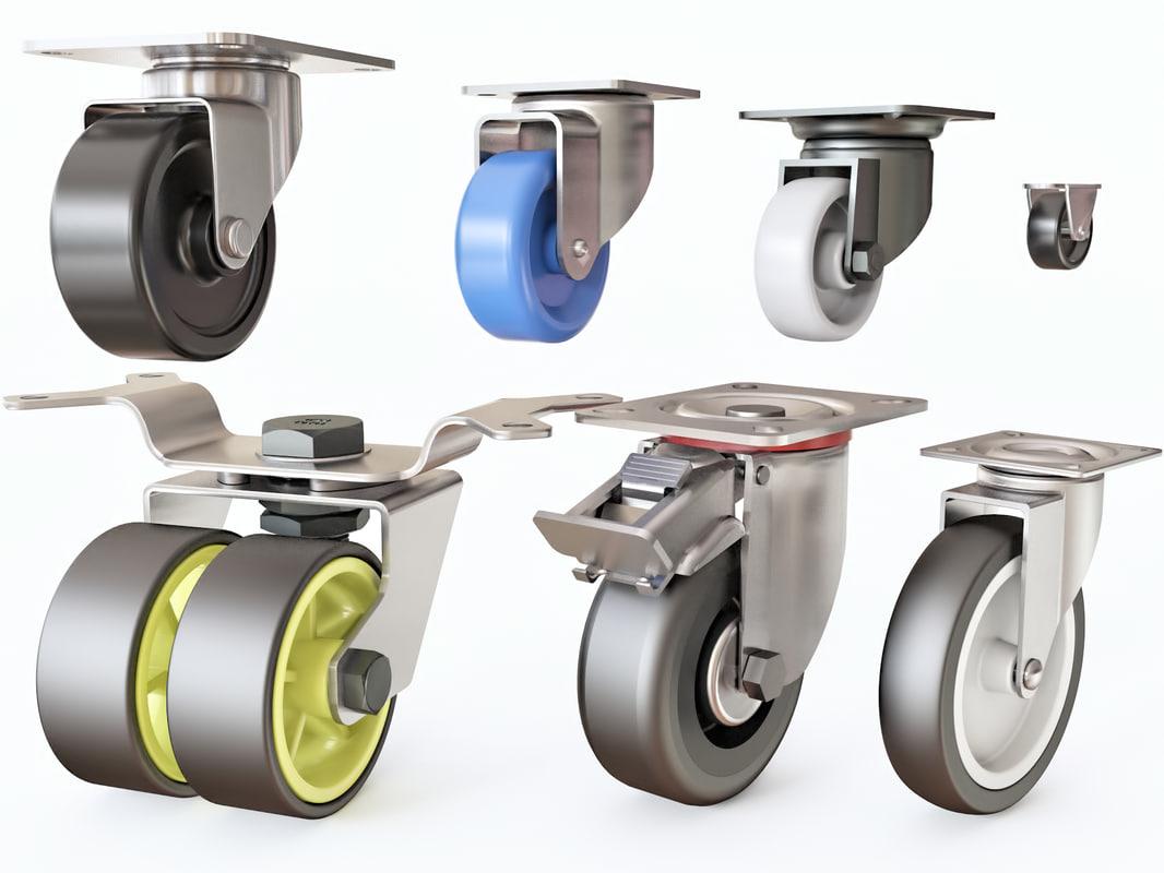 furniture wheels 3D model