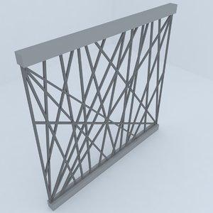 fence railing 3D