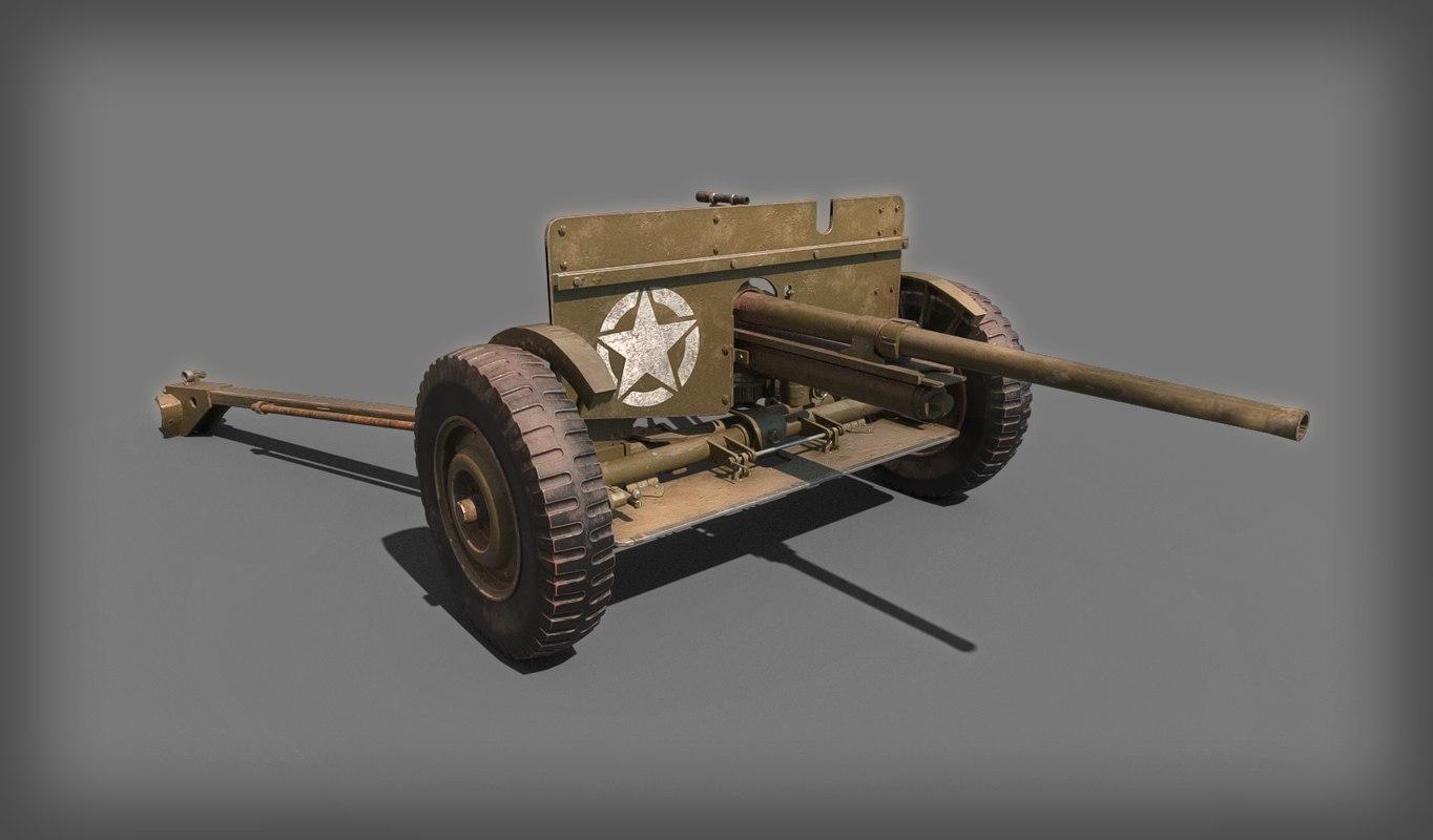 ww2 37mm anti tank model