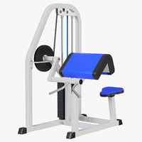 3D model biceps machine