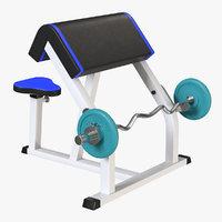 3D model biceps machine