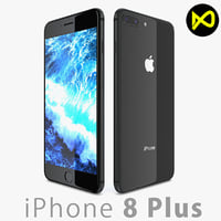 apple iphone 8 3D model