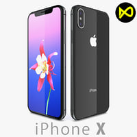 3D apple iphone x