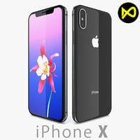 3D apple iphone x