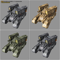 3D scifi missile launcher mk5 model