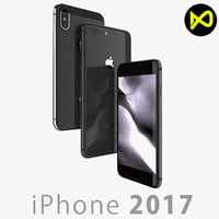 apple iphone x space 3D model