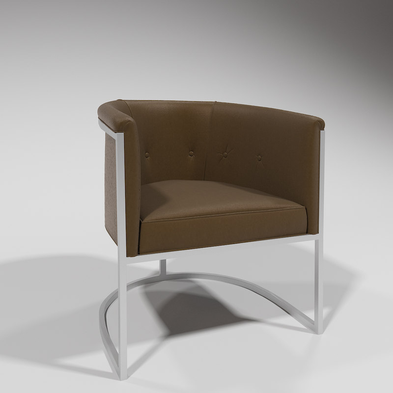 3D nickel club chair