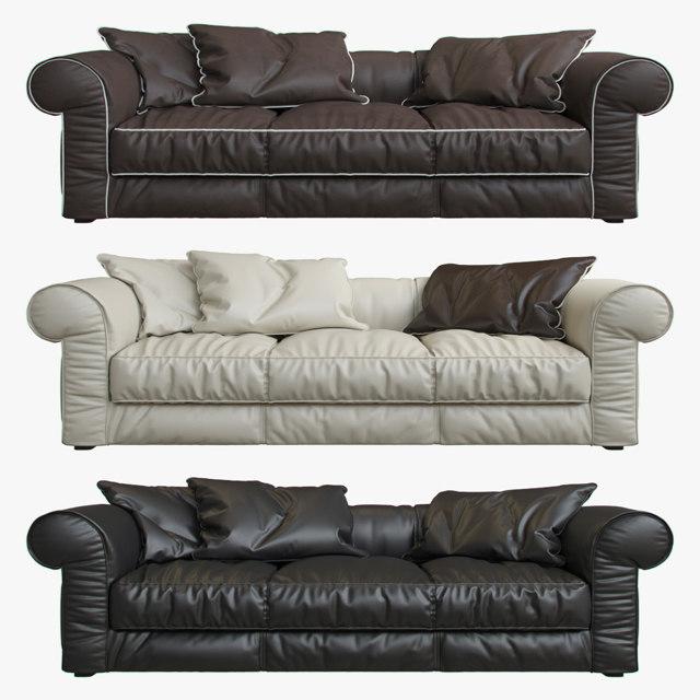 3D baxter alfred sofa model