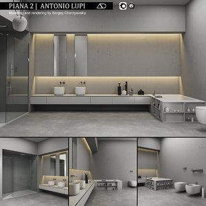 3D model bathroom furniture set piana