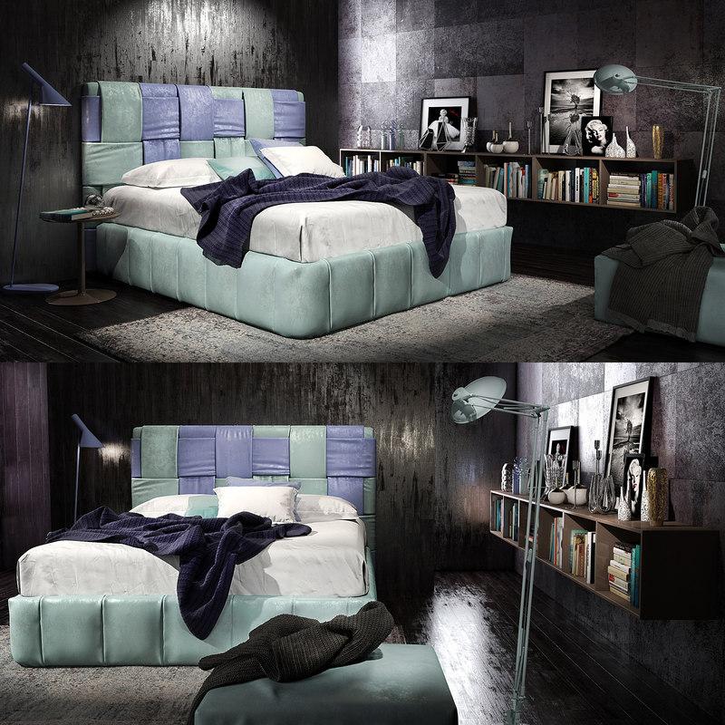 3D felis tiffany bed model