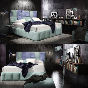 3D felis tiffany bed model