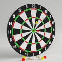darts target 1 3D model