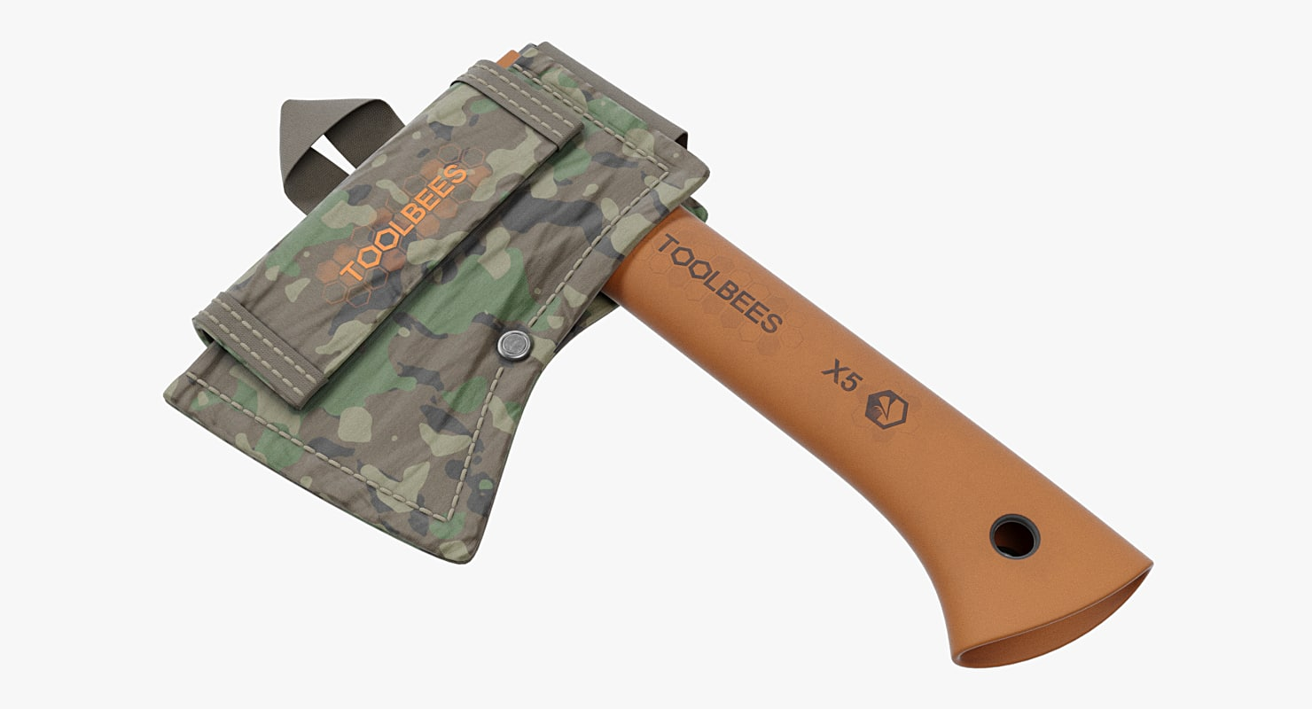 3D camping axe sheath model