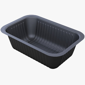 3D model food container barquette