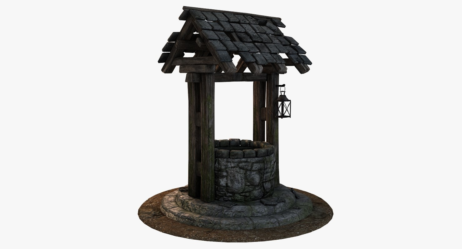 3D old medieval water