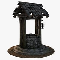 3D old medieval water