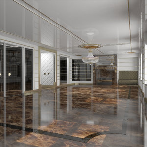 classical interior 3D