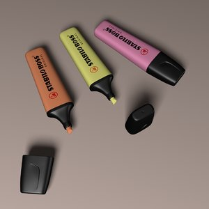3D stabilo boss highlighters