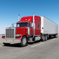 3D 389 semi trailer model