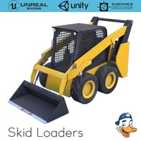 3D model skid loaders