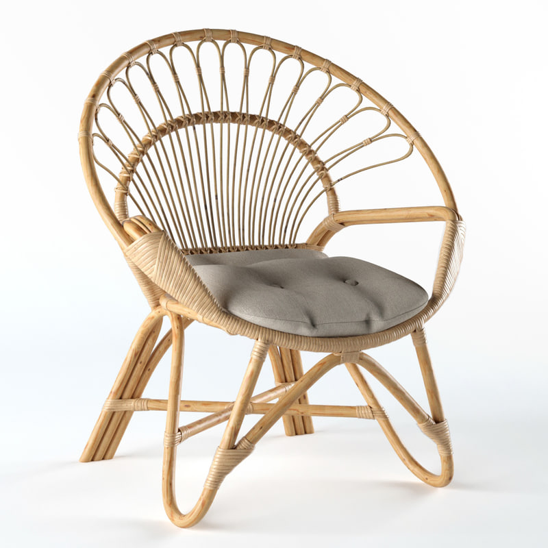 3D chair natural