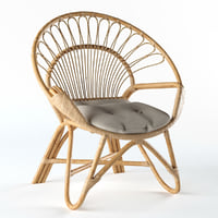 The Family Love Tree Round Chair Natural