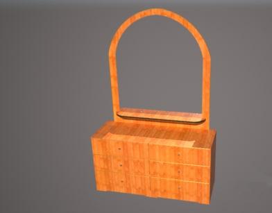 3D mirror cupboard model