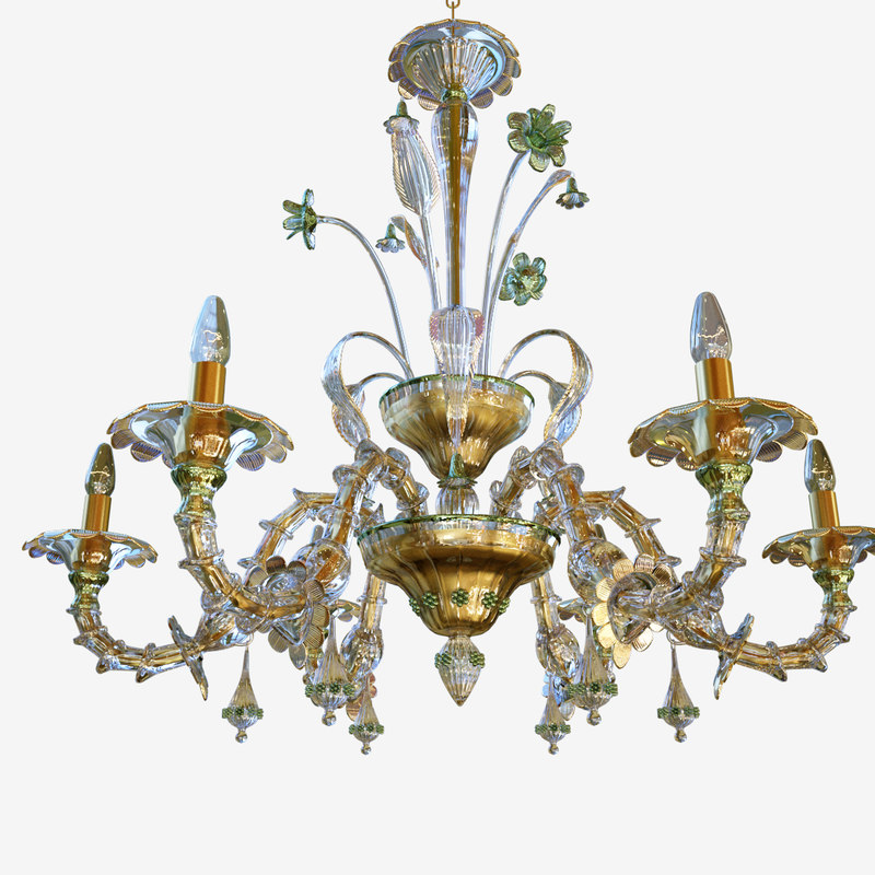 3D model chandeliers lights sylcom 1470