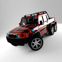 h2 6x6 3D model