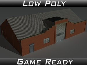 factory building 30 3D model