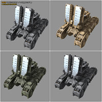 scifi tank radar mk8 3D model