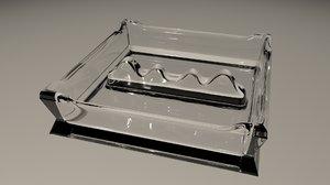 3D ashtray