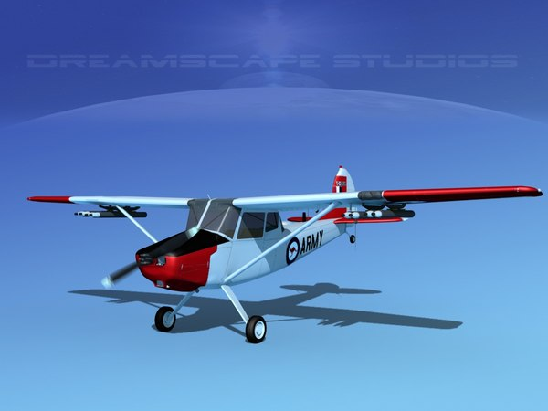 propeller cessna o-1e bird dog 3D