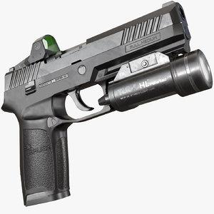 3D model sig sauer p320 pistol
