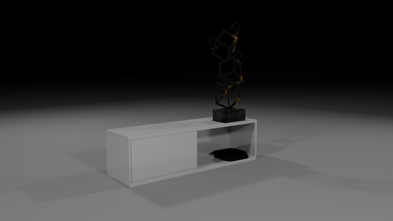 3D model desk console