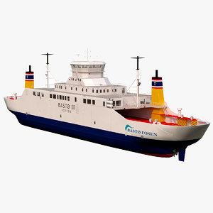 basto-fosen car ferry model