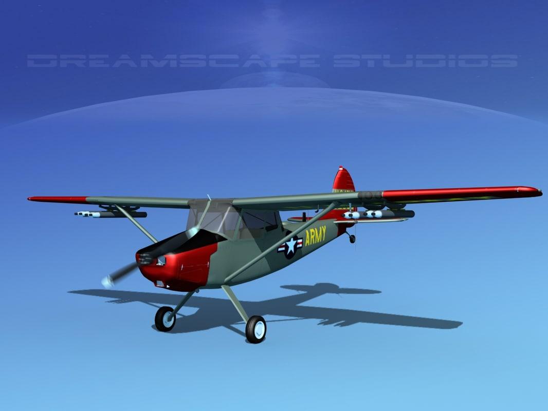 3D model propeller cessna o-1e bird dog