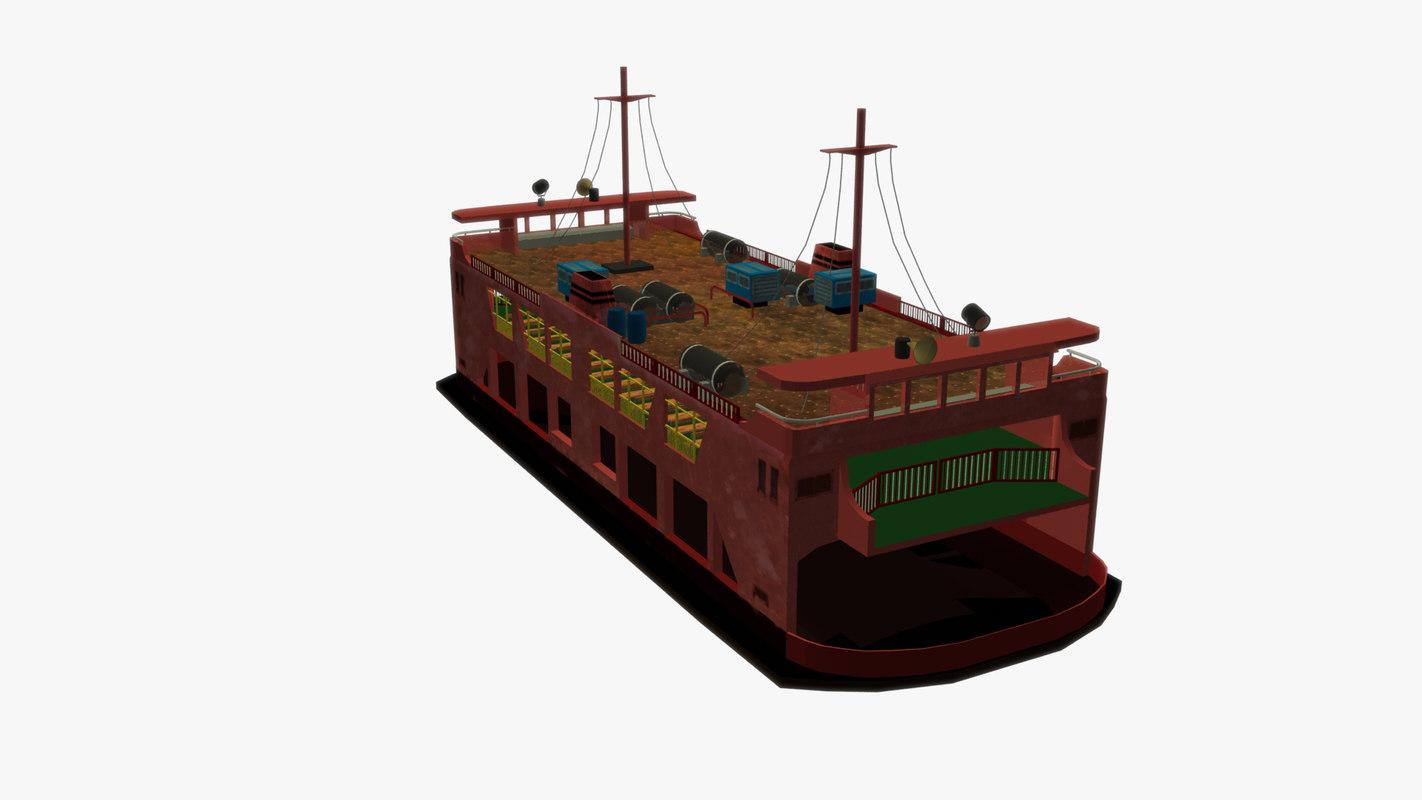 ferry passenger 3D